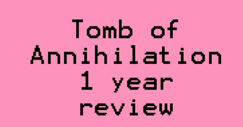 Running Tomb of Annihilation