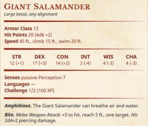 5e mount salamander