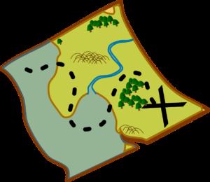 Pirate plot hook treasure map