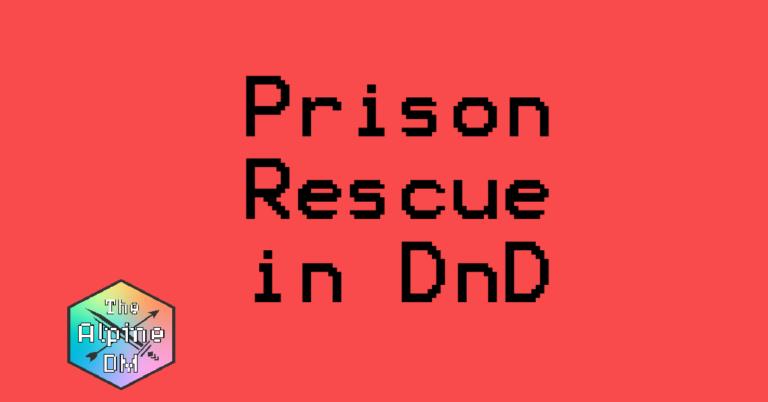 DnD Prison Rescue Cover